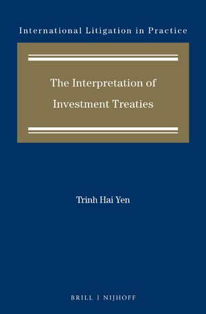 Cover The Interpretation of Investment Treaties