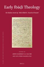 Cover Early Ibāḍī Theology