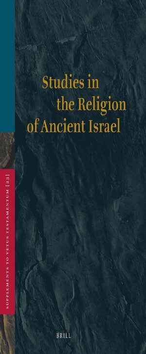 Cover Studies in the Religion of Ancient Israel
