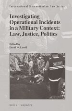 Cover Investigating Operational Incidents in a Military Context: