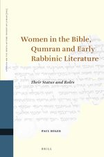 Cover Women in the Bible, Qumran and Early Rabbinic Literature