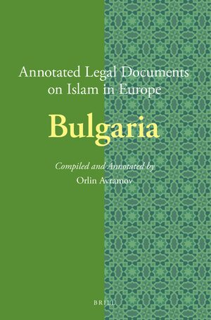 Cover Annotated Legal Documents on Islam in Europe: Bulgaria