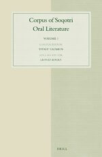 Cover Corpus of Soqotri Oral Literature