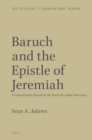 Cover Baruch and the Epistle of Jeremiah