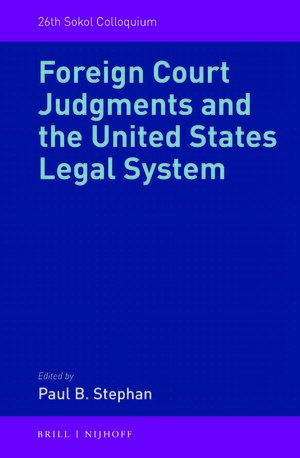 Cover Foreign Court Judgments and the United States Legal System