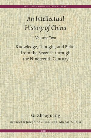 Cover An Intellectual History of China, Volume Two