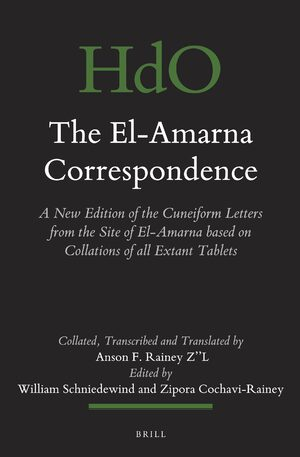 Cover The El-Amarna Correspondence (2 vol. set)