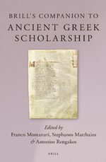 Cover Brill's Companion to Ancient Greek Scholarship (2 Vols.)