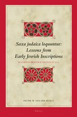 Cover Saxa judaica loquuntur, Lessons from Early Jewish Inscriptions