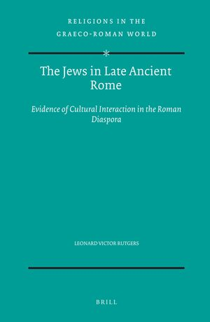 Cover The Jews in Late Ancient Rome