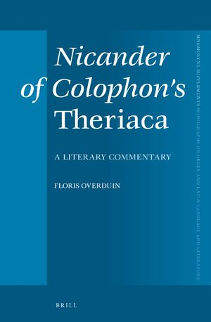 Cover Nicander of Colophon's <i>Theriaca</i>