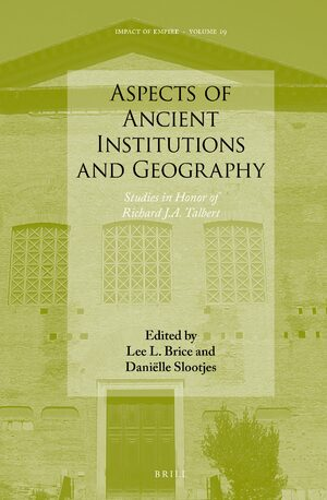 Cover Aspects of Ancient Institutions and Geography