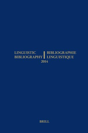 Cover Linguistic Bibliography for the Year 2014 / / Bibliographie Linguistique de l'année 2014