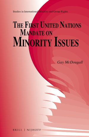 Cover The First United Nations Mandate on Minority Issues