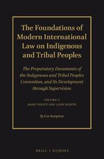 Cover The Foundations of Modern International Law on Indigenous and Tribal Peoples