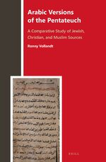 Cover Arabic Versions of the Pentateuch