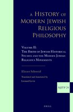 Cover A History of Modern Jewish Religious Philosophy