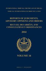 Cover Reports of Judgments, Advisory Opinions and Orders / Recueil des arrêts, avis consultatifs et ordonnances, Volume 14 (2014)