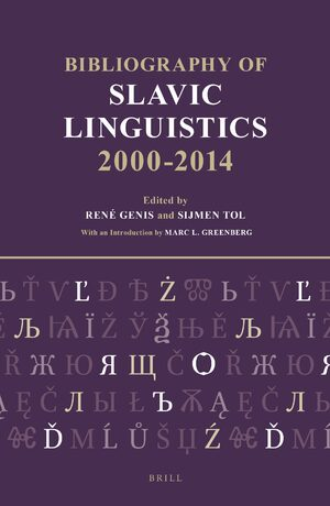 Bibliography of Slavic Linguistics, 2000-2014 (3 vols)