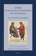 Cover Al-Rāzī, On the Treatment of Small Children (<i>De curis puerorum</i>)