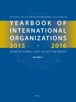Cover Yearbook of International Organizations 2015-2016, Volume 3