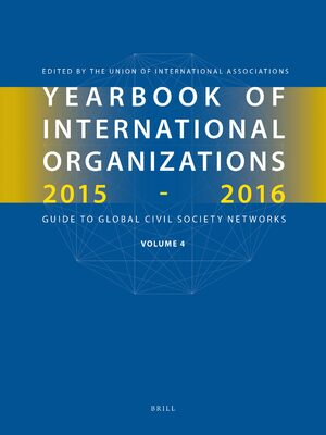 Cover Yearbook of International Organizations 2015-2016, Volume 4