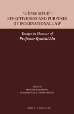 "Cover ""L'être situé"", Effectiveness and Purposes of International Law"