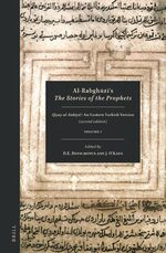 Cover Al-Rabghūzī, <i>The Stories of the Prophets</i>