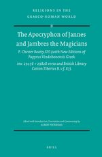 Cover The Apocryphon of Jannes and Jambres the Magicians