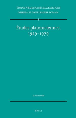 Cover Études platoniciennes, 1929-1979