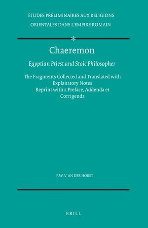 Cover Chaeremon, Egyptian Priest and Stoic Philosopher