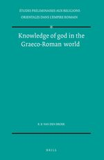 Cover Knowledge of god in the Graeco-Roman world