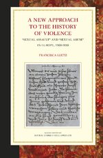 Cover A New Approach to the History of Violence