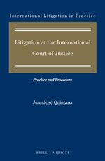 Litigation at the International Court of Justice