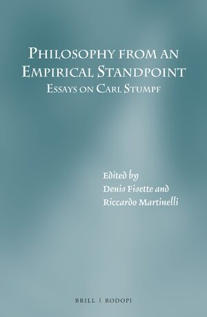 Cover Philosophy from an Empirical Standpoint: Essays on Carl Stumpf
