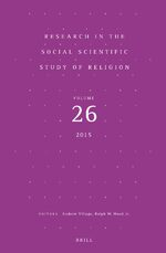 Cover Research in the Social Scientific Study of Religion, Volume 25