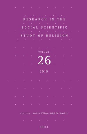 Cover Research in the Social Scientific Study of Religion, Volume 26