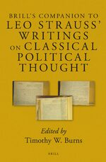 Cover Brill's Companion to Leo Strauss' Writings on Classical Political Thought