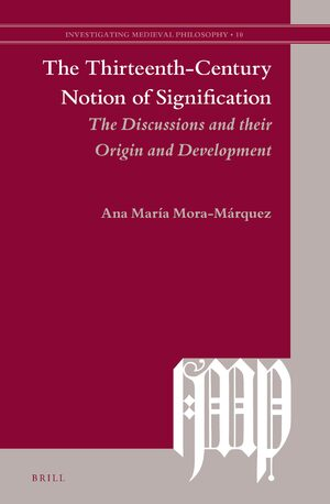 Cover The Thirteenth-Century Notion of Signification