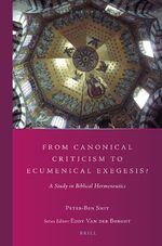 Cover From Canonical Criticism to Ecumenical Exegesis?