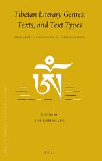 Cover Tibetan Literary Genres, Texts, and Text Types