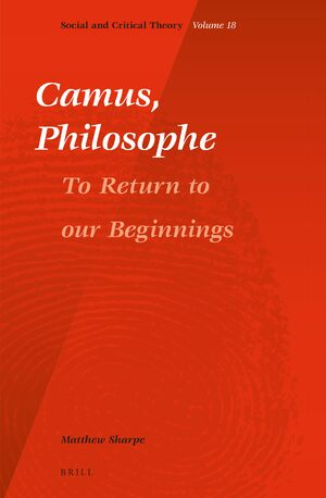 Cover Camus, Philosophe