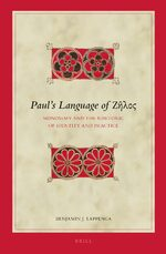 Cover Paul's Language of Ζῆλος