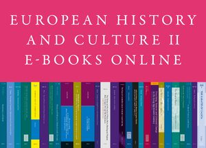 Cover European History and Culture E-Books Online, Collection 2016-II