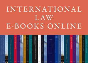 Cover International Law E-Books Online, Collection 2016
