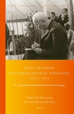 Cover Lewi Pethrus' Ecclesiological Thought 1911-1974