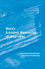 Cover Marx's Economic Manuscript of 1864-1865