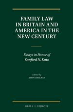 Cover Family Law in Britain and America in the New Century