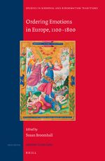 Cover Ordering Emotions in Europe, 1100-1800