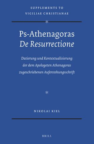 Cover Ps-Athenagoras <i>De Resurrectione</i>